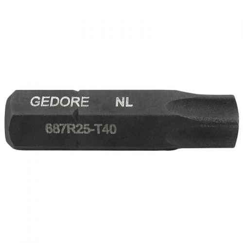 "Bits torx GTX Gedore T40 encaixe 1/4"" 687R25"