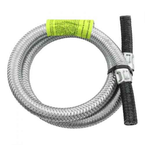 Ligação flexível p/ gás malha de aço 3/8 x 1 metro