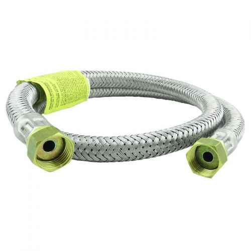 Ligação flexível p/ gás malha de aço 1/2 x 1,5 metro