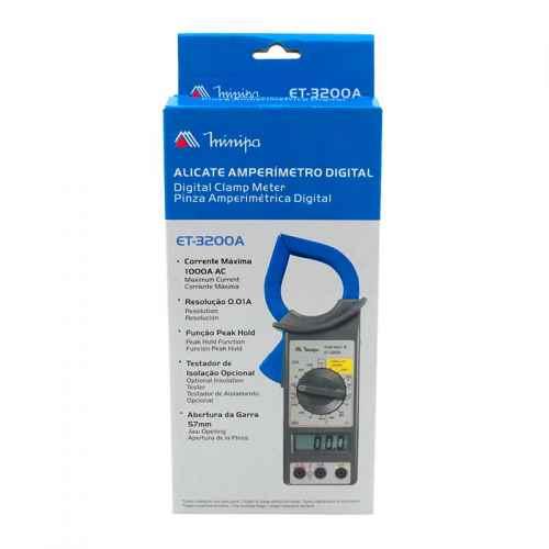Alicate amperímetro digital Minipa ET - 3200A