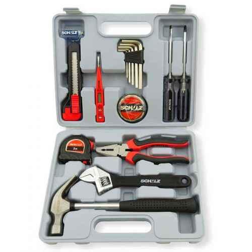 Maleta de ferramentas hobby com 15 peças Schulz
