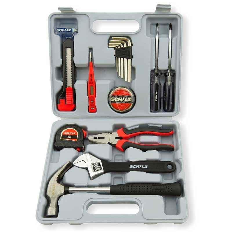Maleta de ferramentas com 15 peças hobby schulz