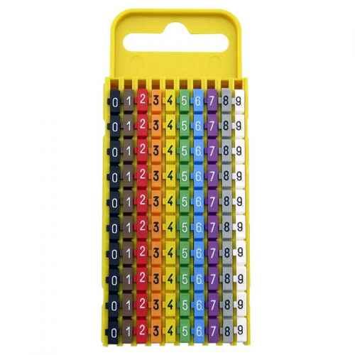 Anilhas para marcação de cabos números de 0-9