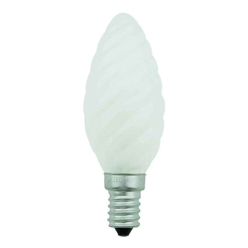 Lampada Vela Torcida/Decorativa Fosca incandescente 25W-E14