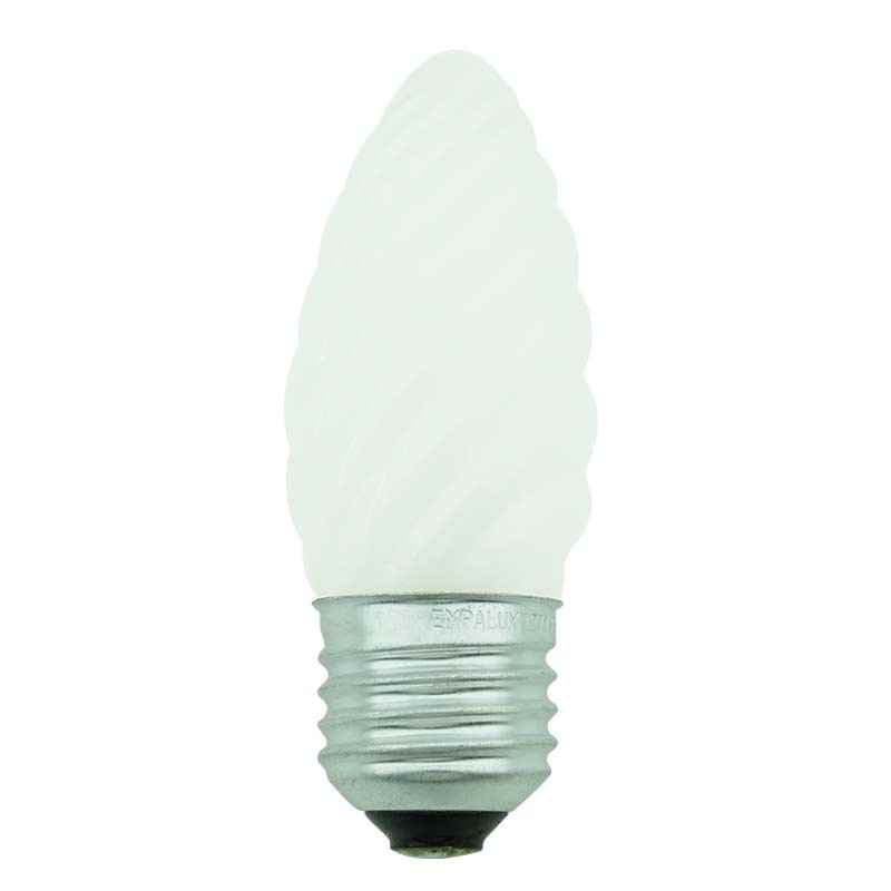 Lampada Vela Torcida/Decorativa Fosca incandescente 25W-E27