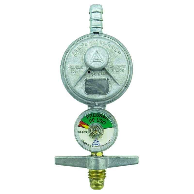 Registro de gás com manômetro 505/01 - Aliança